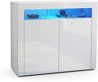 Amazon Fr Meuble Salon Blanc Laque