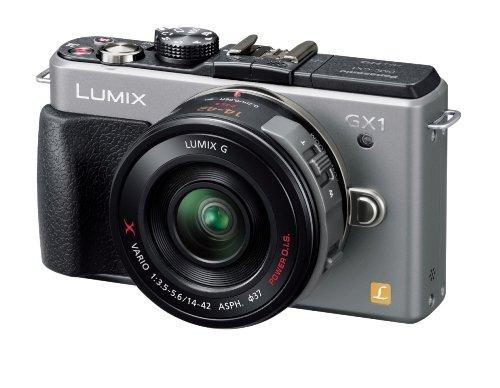 パナソニック ミラーレス一眼カメラ ルミックス GX1 レンズキット 電動ズームレンズ付属 ブレードシルバー DMC-GX1X-S