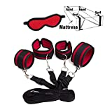 nvasicy Soft Women's Bed Tied up Straps,Neoprene Padded Gym Set,Red