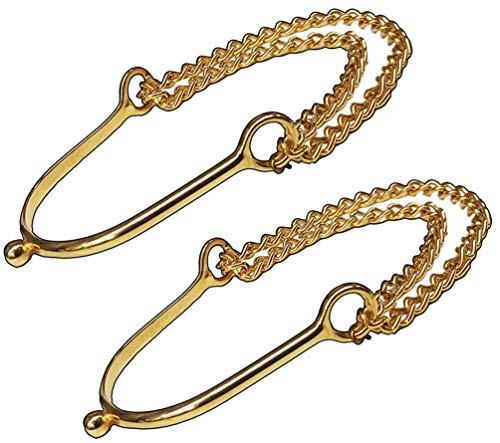 Modestone Women Fashion Western 2 X Metal Boot Chain Bracelet Decorative Spur
