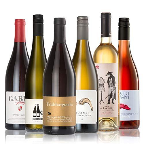 GEILE WEINE Weinpaket BURGUNDER-FAMILIE (6 x 0,75l) Probierpaket mit Weissburgunder, Grauburgunder und Spätburgunder aus Deutschland und Frankreich