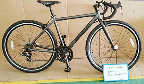 Motobecane Gravel V Caliper Brakes 14 Speed Aluminum Gravel Road Bike (Matt Red, 54cm fits Most Cyclist 5'7' to 5'9')