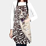 エプロン 進撃の巨人 (43) H型 高品質カフェエプロン 料理キッチン 防水防油防汚 家事のエプロン 動きやすい 大人/子供 おしゃれ 男女兼用ための調節可能な 可愛いエプロン 大きめポケット 快適しわ防止耐久性