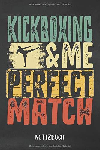 Notizbuch: Kickboxen Notizbuch | 75 leere linierte Seiten| Geschenk für Kickboxer| DIN A5 6x9 Format (15,24 x 22,86 cm)