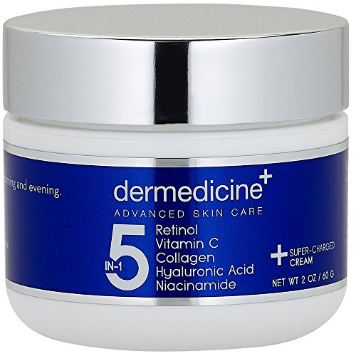 5 in 1 Retinol, Vitamin C, Collagen, Hyaluronic Acid and Niacinamide | Potent Face Cream which May Help Improve Appearance of Fine Lines and Wrinkles and Reduce Appearance of Dark Spots | 2 oz / 60ml