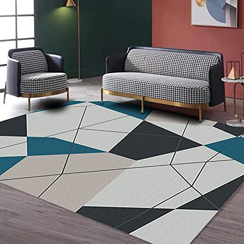 NTtie Suave Alfombra para salón Dormitorio baño sofá Silla cojín Alfombra de Piso Simple geométrica Sala de Estar Dormitorio impresión