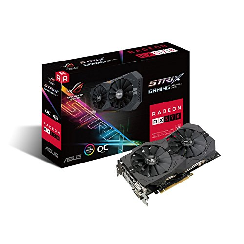Asus ROG Strix-RX570-O4G-Gaming AMD Radeon Grafikkarte (4GB GDDR5 Speicher, PCIe 3.0, HDMI, DisplayPort)