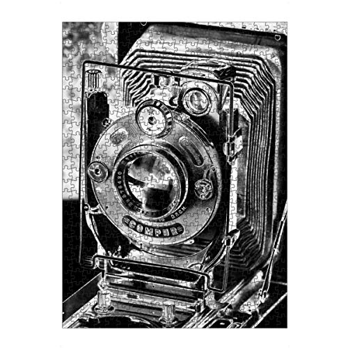 artboxONE Ravensburger-Puzzle L (500 Teile) Abstrakt Plattenkamera ICA Dresden - Puzzle Kamera objektiv Klassik