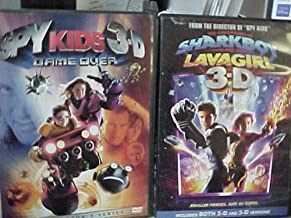 Spy Kids 3-D , Adventures of Sharkboy and Lava Girl 3-D : Family Movie 2 Pack Collection