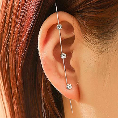 JEFEYI Tobillera de Playa Pendientes de Cristal de Moda con Pendientes Cruzados geométricos Pendientes de Perla Pendientes de Escalador regalo-63593
