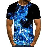 ZTIANEF Cuello Redondo y 3D Casual Creativa Impresión con Cuello Redondo Camisa T Shirt Sudaderas