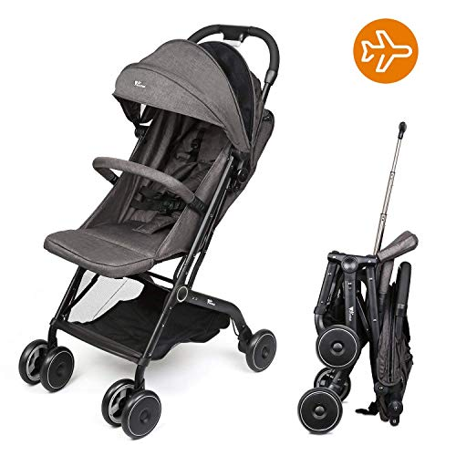 Amzdeal Airplane Lightweight Stroller Portable Travel Stroller with Pull Handle Foldable Design for...