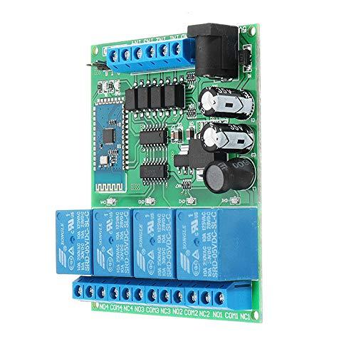 MING-MCZ Duradero 4 Canales Bluetooth Relé Android Mobile Wireless Control Remoto Interruptor DC 5V 9V 12 24V Fácil de Montar
