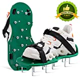 Heart Journey Lawn Aerator Shoes for Aerating Lawn Soil Effectively, Aerator Shoes One-Size-Fits-All & Easy to Install and Use, Aeration Shoes for a Heathier Lawn, Lawn Shoes Without Spanner