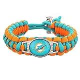 Swamp Fox Premium Style Miami Dolphins Football Team Adjustable Paracord Bracelet