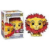 Funko Pop Simba 302 - Figura de El rey León, 9 cm, Disney Flocked Exclusive #1...
