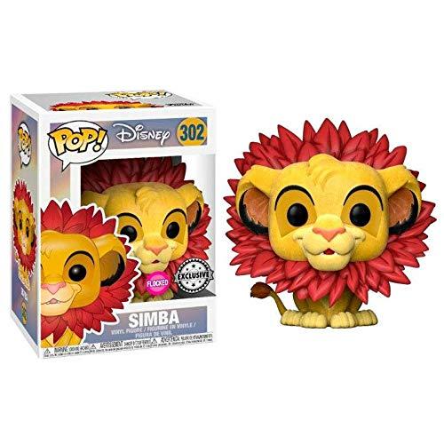 Funko Pop Simba 302 Il RE Leone Figure 9 CM Disney Flocked Exclusive #1