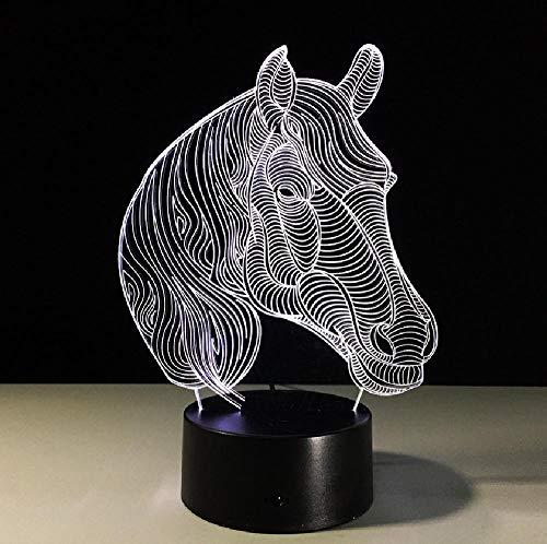 Paard nachtlampje usb nieuw geschenk 7 kleuren wijzigen dier 3D LED bureau tafellamp als hoofddecoratie, app mobiele telefoon Bluetooth afstandsbediening kleur oogbescherming energiebesparende tafellamp