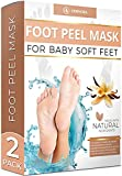 Vanilla Foot Peel Mask - 2 Pack - For Cracked Heels, Dead Skin & Calluses