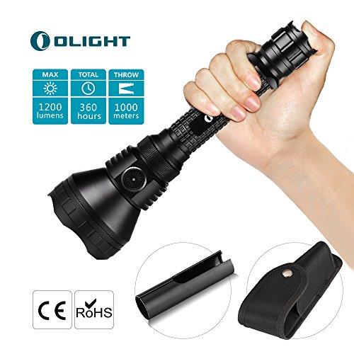 Lampe Torche LED Puissante Solide Robuste Impressionnate Lampe de Poche Tactique 1200 Lumens CREE XP-L Portée Surprenante Haute Intensité Etanche - 5 ANS de GARANTIE - Olight M3XS-UT JAVELOT