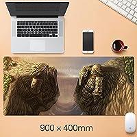 NARUTOアニメ卯月卯月パッド拡張マウスパッド - ゲーミングマウスパッド - オフィスデスクマットステッチエッジ&スキッドプルカーベース - 15.75 x 35.45インチ-A3_300 * 900 * 3mm