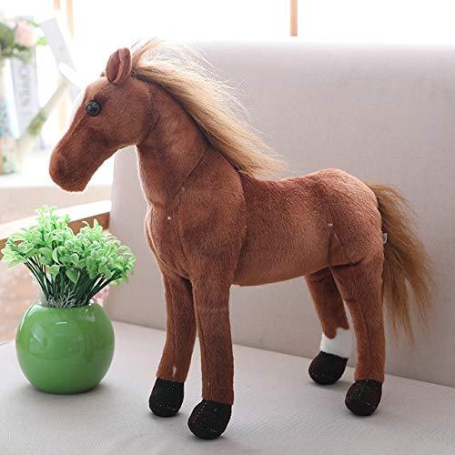 ASDFF 40cm simulación Caballo Juguetes de Peluche muñecos de Animales realistas para bebés niños Regalos de cumpleaños decoración de la Tienda del hogar 4
