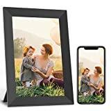 Jeemak WiFi Digital Picture Frame 7 inch Photo Frame with IPS Touch Screen Portrait or Landscape Auto-Rotate Share Photos and Videos via App, Email, Facebook, Twitter at Anytime and Anywhere