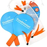 VIAHART Goodminton - The World's Easiest Racquet Game - an Indoor Outdoor Year-Round Fun Paddle Game Set for Boys, Girls, and People of All Ages
