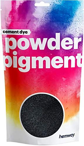 Hemway Cement Dye Powder Pigment Concrete Color Render Mortar Pointing Powdered Brick Toner Plaster (50g / 1.75oz, Metallic Charcoal Black)