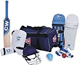 CW Sports Acemedy Team Cricket Kit Blue Size 6 Ideal for 11-12 Year Child (Large Bag Cricket Bat,Helmet,Abdominal Guard,Leather Ball,Batting Gloves,Leg Guard,Arm & Thigh Guard)