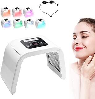 Wandisy Máquina de rejuvenecimiento de la Piel Facial fotodinámica, PDT 7 Colores Luz LED Lámpara de Belleza Tratamiento del acné Máquina de Cuidado de la Piel Máquina Facial(EU)