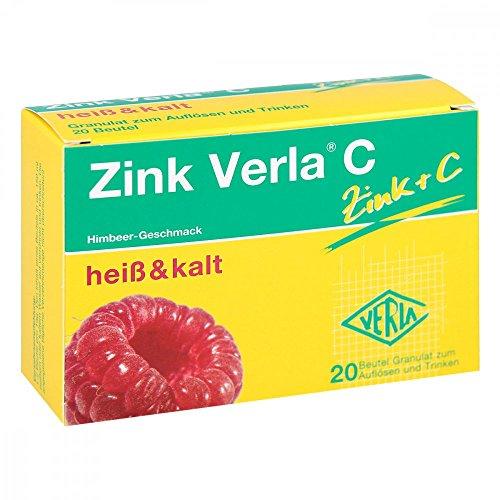 Zink Verla C Himbeer-Geschmack heiß & kalt Granulat, 20 St. Beutel