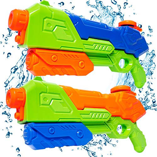 HAJACK Water Gun, 2 Pack Water Guns for Kids, 1400CC High Capacity, Long Range Squirt Guns, Shoot Up to 40 Feet, Summer Swimming Pool Beach Party Water Outdoor Fighting Toy