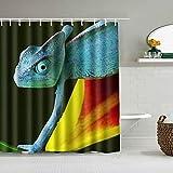 Shower Curtain, Reptile Gecko Lizard herbivorous Species Home Luxury Waterproof Bath Shower Curtain with 12 Hooks, 72 x 78 Inch