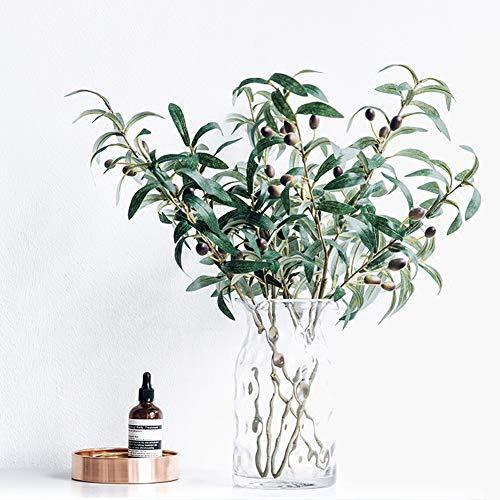 Danigrefinb Künstlicher Olivenzweig mit Früchten, Kunstpflanze, Heimdekoration, Fotografie-Requisiten, Kunstblumengirlande für den Außenbereich Multi