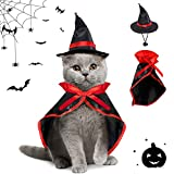 Cane Halloween Costumes,Cane Gatto Vampiro Costumi,Scialle di Halloween Animali,Costumi di Halloween per Animali,Cucciolo Cloak Halloween,Puntelli Cosplay Decorazione di Halloween (S)