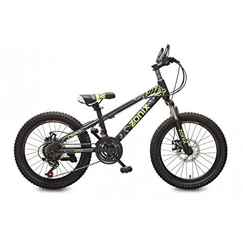 Zonix Fahrrad Jungen Mädchen MTB 20 Zoll 21 Gang Schwarz Grün 85% Zusammengebaut