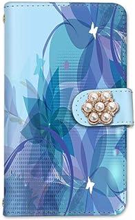 rafre/DIGNO W KYV40 手帳型 ケース カード ミラー スマホケース 携帯ケース 携帯カバー スマホカバー KYOCERA 京セラ ラフレ/ディグノ ダブル au SIMフリー vc-203-deco 花柄 大人 可愛い 上品 お洒落