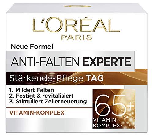 L'Oréal Paris Anti-Falten Experte Tagescreme 65+, Anti-Age Gesichtscreme mit Vitamin Komplex,...