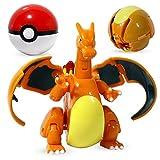 Juguete de Pikachu, Monstruos De Bolsillo Emergente Originales, Bolsillo De Bolsillo Master Great Ultra GS Pokeballs Venusaur Charizard Figure Figura Modelo Conjunto De Regalos (Color : Charizard)