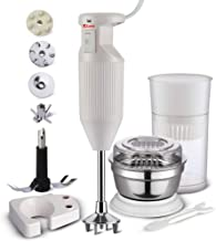 Rico Hand Blender with Chutney and Juice Jar, Low Noise and Quick Blend Japanese Technology, 150 Watt, 1 Year Free Replace...