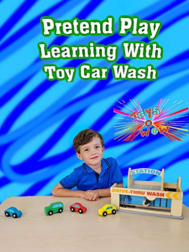 Pretend Play Learning With Toy Car Wash
