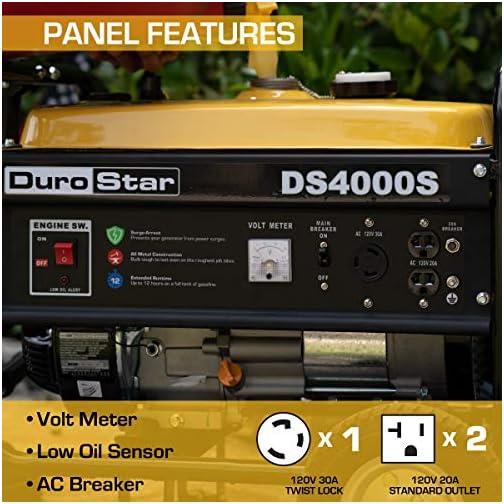 Durostar DS4000S Portable Generator, Yellow/Black 5