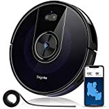 Robot Vacuum, Bagotte BG800 Wi-Fi Connected Robotic Vacuum Cleaner with Mapping, 2200Pa Strong Suction, Gyroscope Precise Navigation, 2.7' Super-Thin, Cleans Pet Hair, Hardwood Floors & Carpets