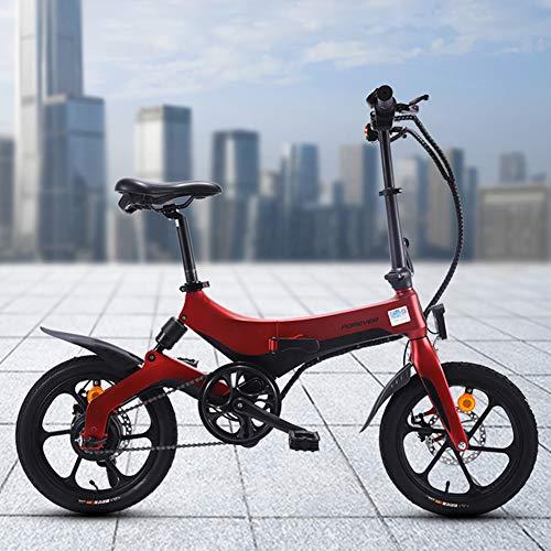 Pc-Hxl Inklapbare elektrische fiets draagbare opvouwbare mountainbike 36 V 5,2 Ah / 8 Ah lithium batterij 16