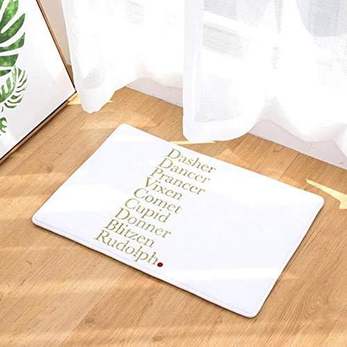 SHAO Deurmat karakter kleurrijke tekst patroon tapijt woonkamer stofmat
