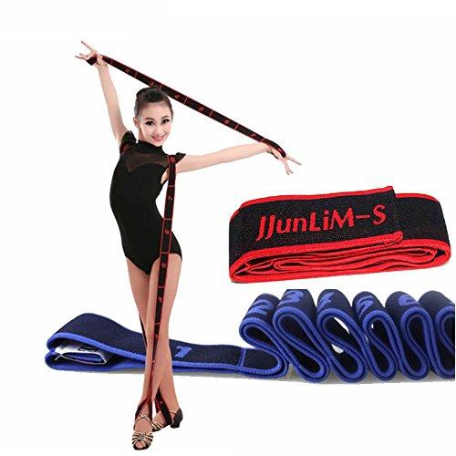 JJunLiM Fasce di Resistenza 15 kg per Bambini e Adulti, per Pilates, Yoga, Stretching, Fitness, Ginnastica, Crossfit, Danza e Allenamento (80cm Kids Red)