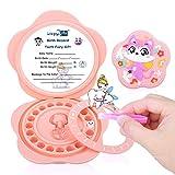 Caja para guardar dientes para bebé, Regalo para niños en Material de silicona de souvenir caja de recuerdos de hoja caduca, Acumulación de dientes (niños y niñas - Rosa)