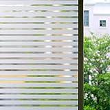 Zindoo Pellicola Privacy per Finestre Autoadesive per Finestra Vetri Decorativi Pellicola Striscia per Doccia Ufficio Bagno Camera da Letto Sala 44.5 x 200cm
