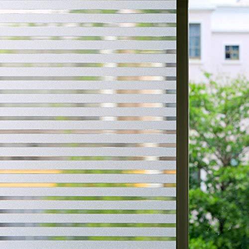 Zindoo Vinilo para Ventanas Vinilos Decorativos Cristales Sin Pegamento Láminas Electrostáticas para Ventanas la privacidad contra los Rayos UV (45 x 200CM)